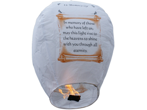 "We stock the ""IN MEMORY of"" lanterns"